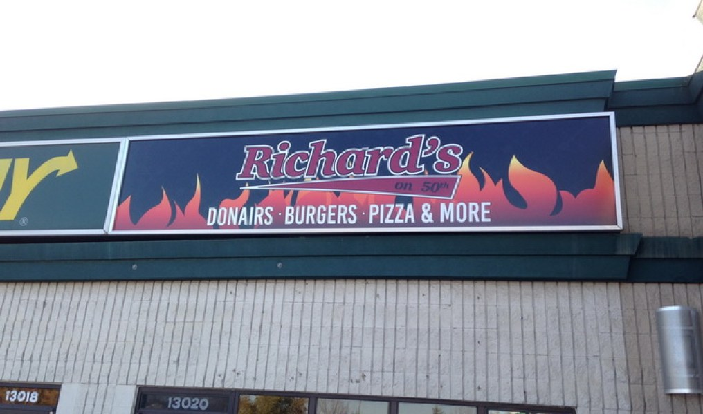 Business sign - Richards Donair