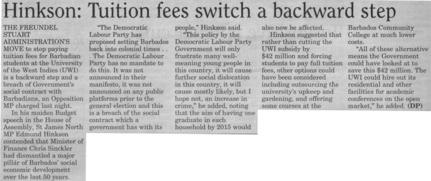 Hinkson: Tuition fees switch a backward step - 2013-08-15 - Daily Nation