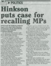 Hinkson puts case for recalling MPs - 2015- 02-25 - Midweek Nation - Page 15A