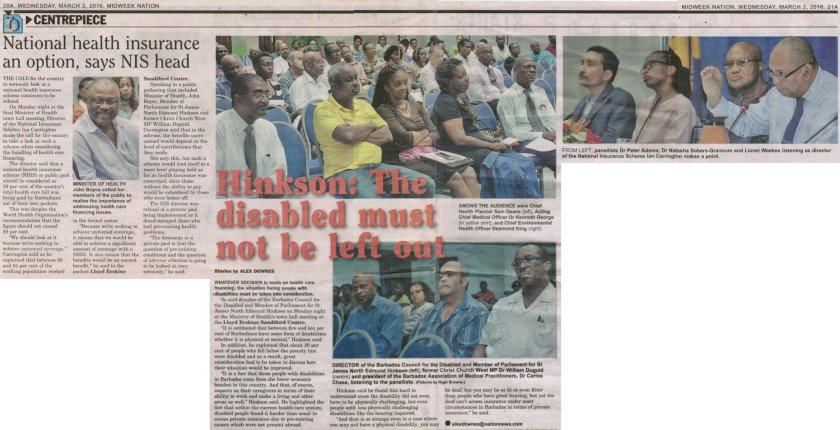 Hinkson: The disabled must not be left out - 2016-03-02 - Midweek Nation - Pages 20-21