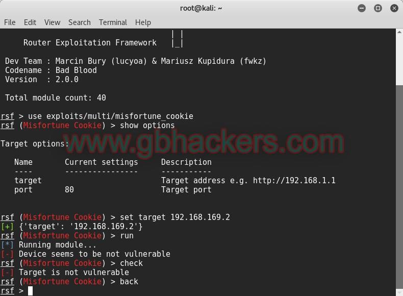 Attaccare i router
