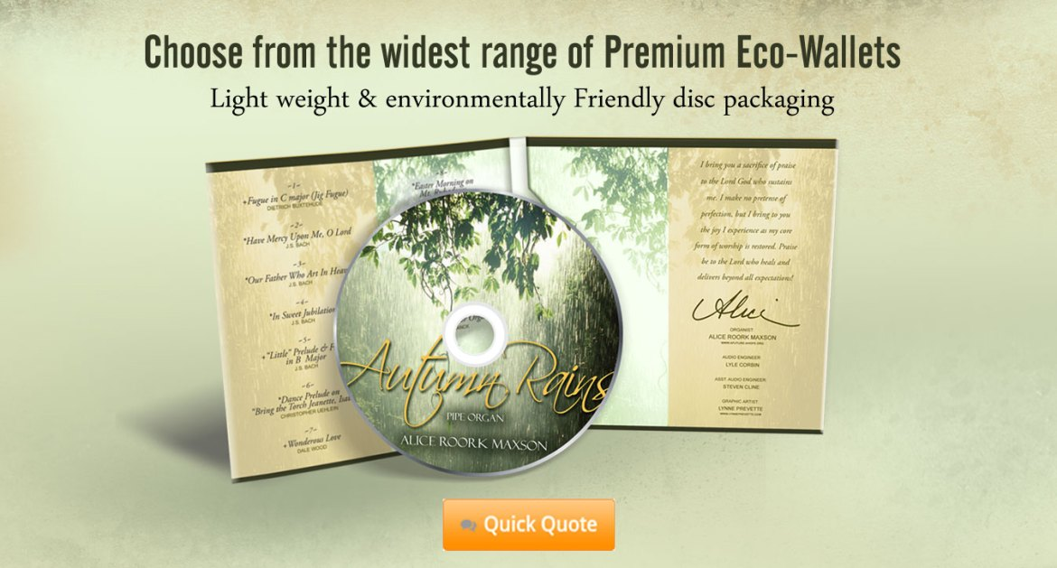 4 Panel Premium Eco-Wallets with CD Duplication