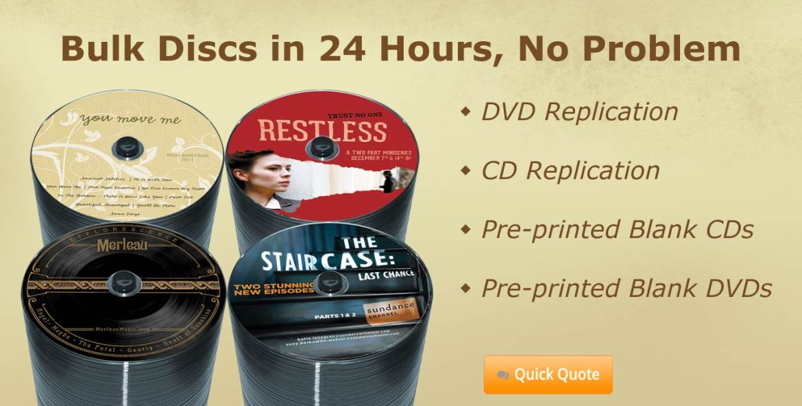 Super fast DVD and CD Replication