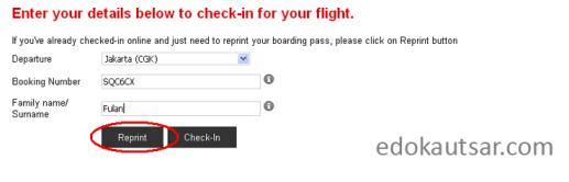 Cetak print web check in air asia