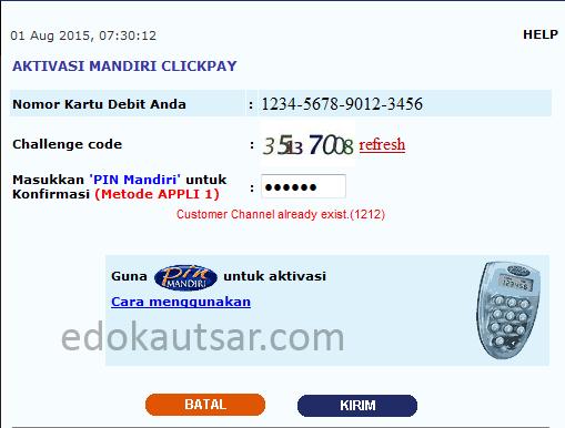 Customer Channel already exist.(1212)