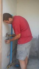 Installing a sink in a new bathroom