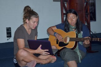Laura & Michelle K Leading Worship in Antigua