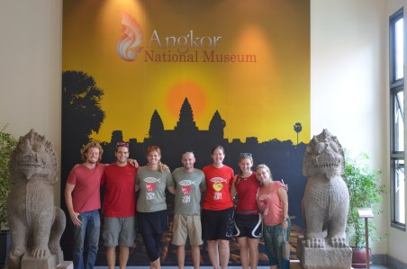 Team + Travis at Angkor Wat Museum