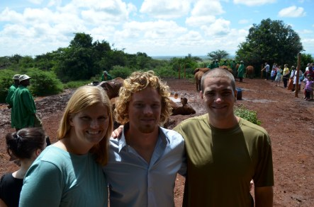 Erin, Travis & I at the Elephant Orphanage