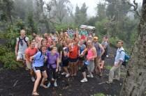 Squad climbing volcano in Antigua