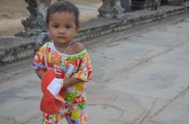 Cute kid at Angkor Wat
