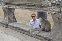 Brant photobombing a Monkey