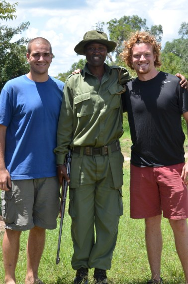 Travis and I with Armed Guard