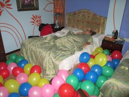 Balloons for Laura's birthday