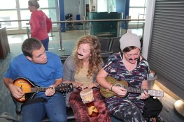 Jamming in the airport on the way home from SA