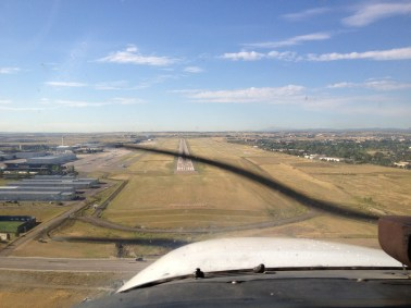 Coming in for a landing at Centennial!