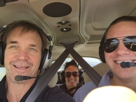 Seth, Betty & me flying around Gainesville