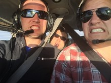 Christopher, Tommy & me flying to Garden City, Kansas