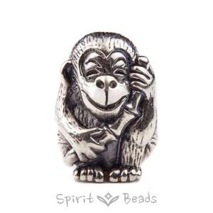 Spiritbeads Joyful Monkey Silver