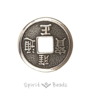 Spiritbeads Chinese Luck Coin Silver
