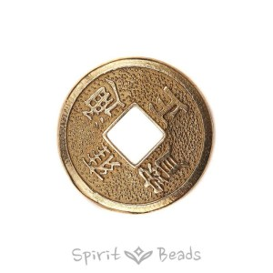 Spiritbeads Chinese Luck Coin Brass