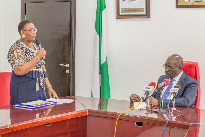 Obaseki tips NIPOST on publicity, image promotion