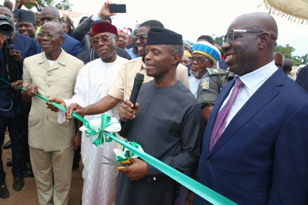 Osinbajo opens 60, 000 Metric Tonnes Fertilizer Plant in Edo