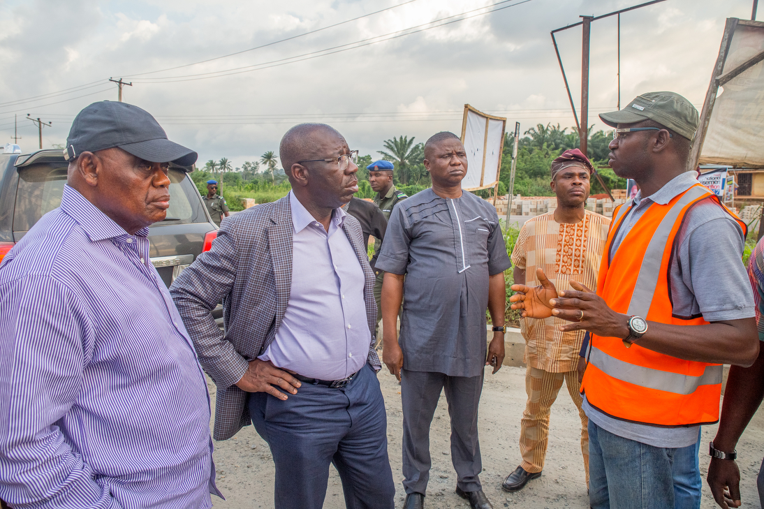 Obaseki breathes down on contractors handling road projects in Edo Central