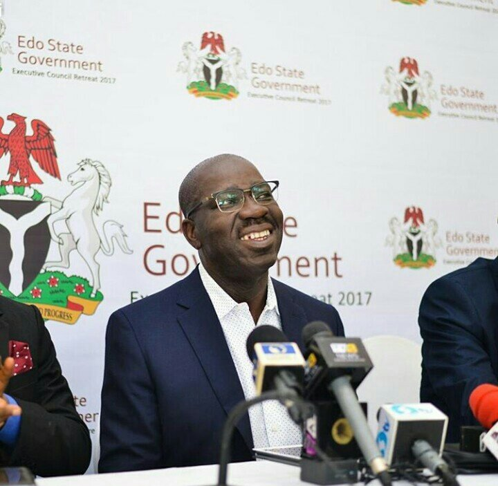 Obaseki briefs journalists on NEC's $1bn Excess Crude approval to fight Boko Haram