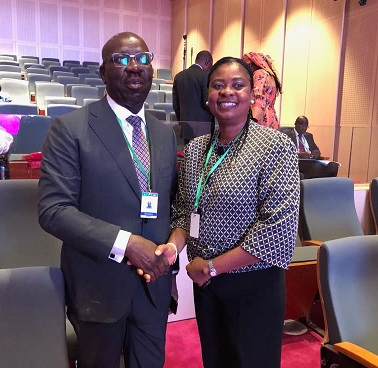 Obaseki hails Stella Anukam on new role as African Union Court Judge, urges Edo youths to emulate strides