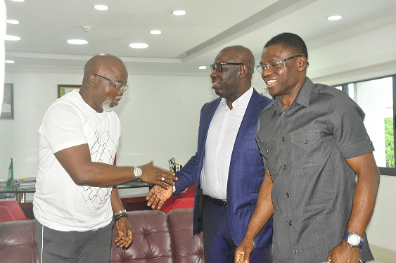 Pinnick hails Obaseki's sports devt initiatives, as Edo Sports Comm gets interim boss