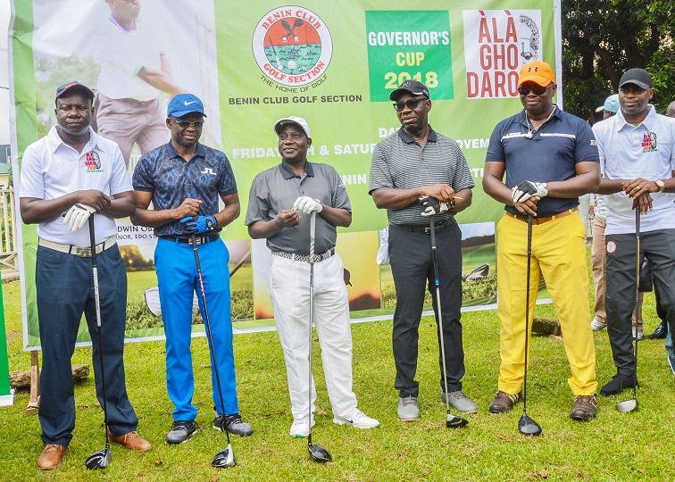 Alaghodaro: Obaseki, Lalong, Shaibu, others tee-off Governor's Cup Golf tourney in Benin