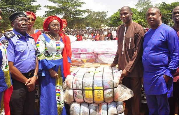 POWA President, Asta Idris, fetes IDPs in Edo, donates relief materials