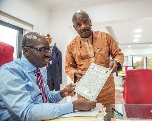 Obaseki signs first set of electronic C-of-O, as new land management system kicks off in Edo