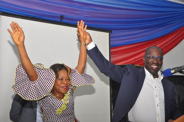 Obaseki gifts outstanding Headteacher, Mrs. Osaru, housing unit in Emotan Gardens