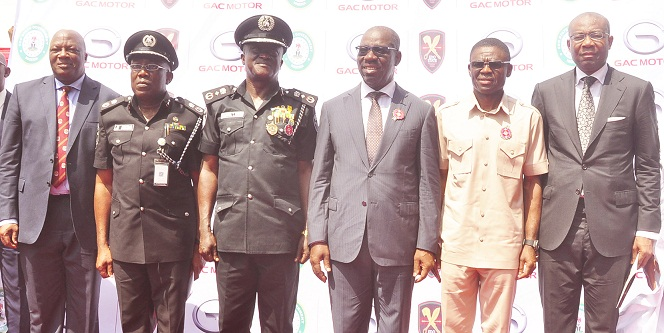 Obaseki unveils Edo security architecture as Imoukhuede heads over N2bn Trust Fund
