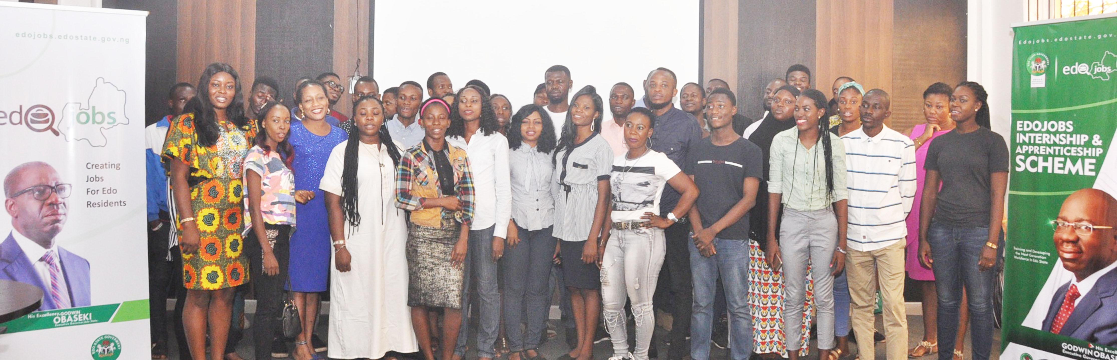 First batch of 100 Edo youths benefit from Obaseki's graduate internship scheme
