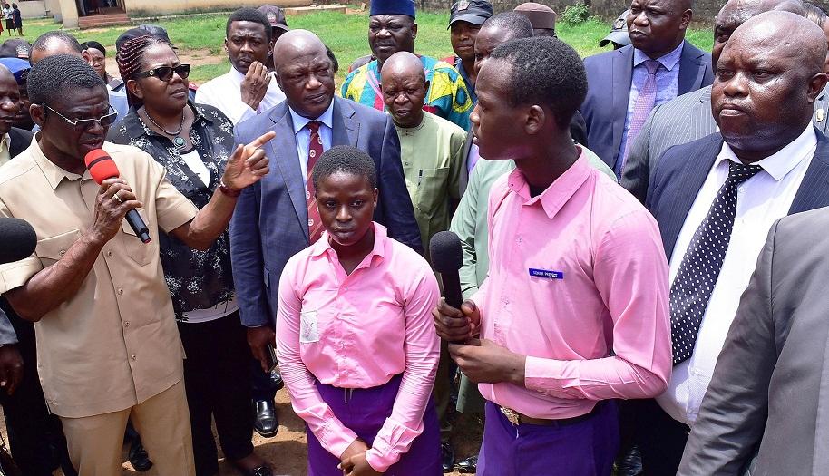 Shaibu tours Ihogbe, Akenzua Secondary Schools, Uwelu Spare Parts Market