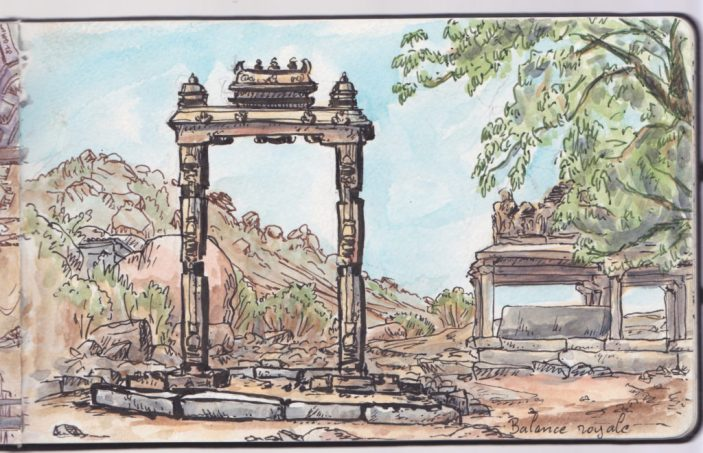 Portique de la balance royale (Hampi)