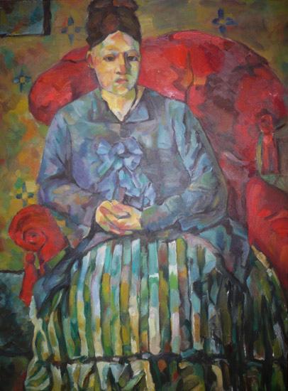 Copie d'un Cézanne (huile)
