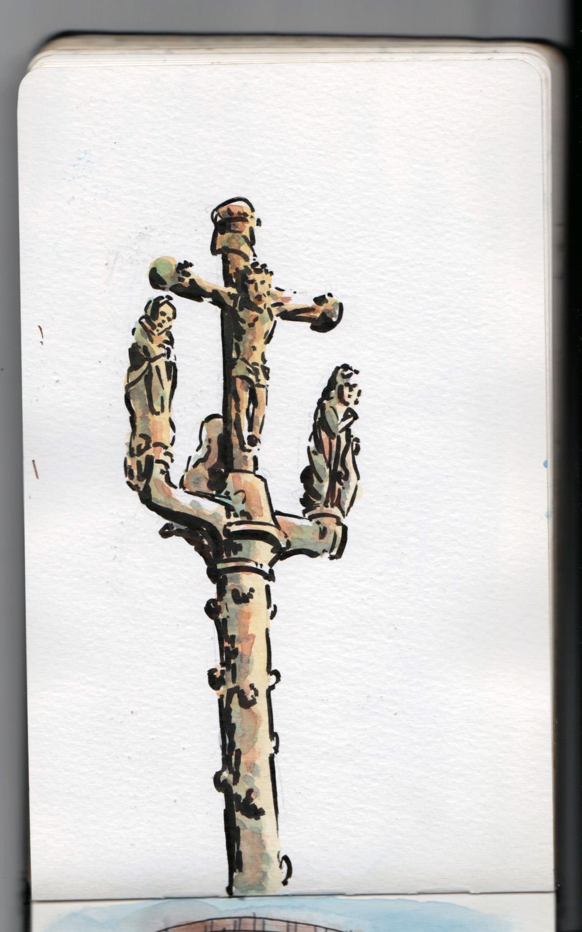Croix d'une petite chapelle bretonne