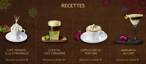 recettes à base de café nespresso tanim et umutima