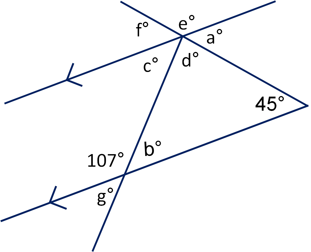 Parallel Lines And Transversal Worksheet