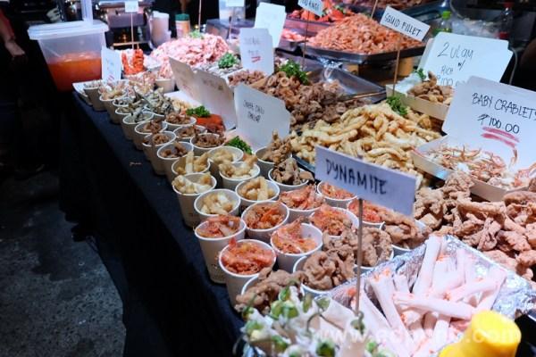 finger foods at Gustos food market