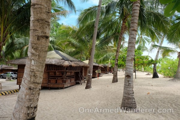 Nipa hut rooms beach philippines
