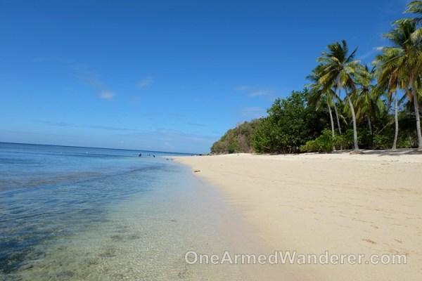 White sand beach sarangani