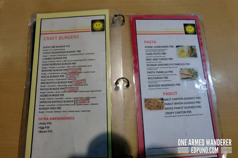 Gabs Good Grab Menu