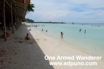 Beach front of Paradise Island Samal