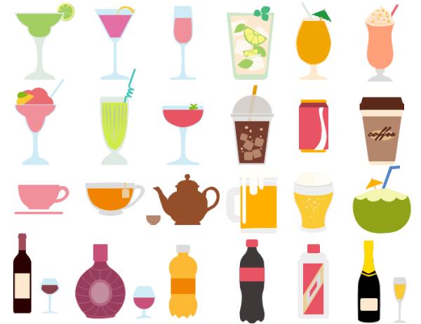 vector drink and beverage