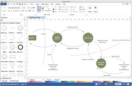 visio application diagram thermo king apu wiring datenflussdiagramm erstellen - professionelle software für